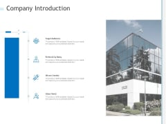 Company Introduction Ppt PowerPoint Presentation Slides Display PDF