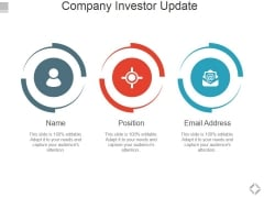 Company Investor Update Ppt PowerPoint Presentation Portfolio Example
