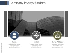 Company Investor Update Ppt PowerPoint Presentation Slides