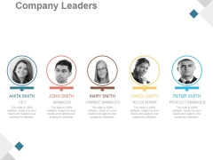 Company Leaders Ppt PowerPoint Presentation Infographic Template