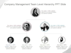 Company Management Team Level Hierarchy Ppt PowerPoint Presentation Background Designs