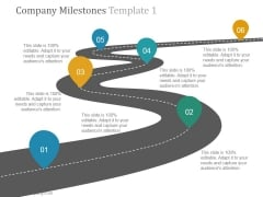 Company Milestones Template 1 Ppt PowerPoint Presentation Clipart