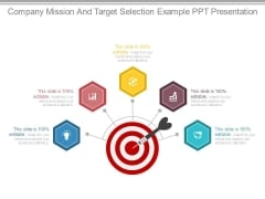 Company Mission And Target Selection Example Ppt Presentation