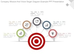 Company Mission And Vision Target Diagram Example Ppt Presentation
