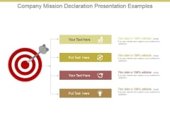 Company Mission Declaration Presentation Examples