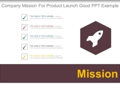 Company Mission For Product Launch Good Ppt Example