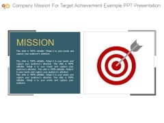 Company Mission For Target Achievement Example Ppt Presentation