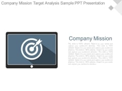 Company Mission Target Analysis Sample Ppt Presentation