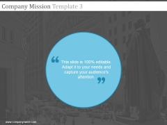 Company Mission Template 3 Ppt PowerPoint Presentation Show