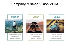 Company Mission Vision Value Ppt PowerPoint Presentation Example 2015