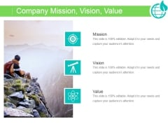 Company Mission Vision Value Ppt PowerPoint Presentation Information