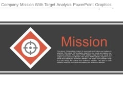 Company Mission With Target Analysis Powerpoint Graphics