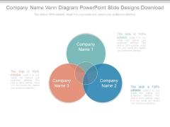 Company Name Venn Diagram Powerpoint Slide Designs Download