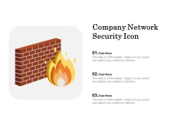 Company Network Security Icon Ppt PowerPoint Presentation File Infographics PDF