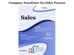 Company Newsletter For Sales Process Ppt PowerPoint Presentation File Vector PDF