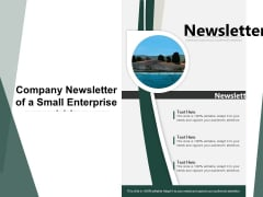 Company Newsletter Of A Small Enterprise Ppt PowerPoint Presentation File Design Templates PDF