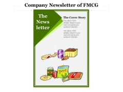 Company Newsletter Of FMCG Ppt PowerPoint Presentation Icon Show PDF