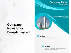 Company Newsletter Sample Layout Ppt PowerPoint Presentation File Clipart PDF