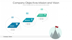 Company Objectives Mission And Vision Ppt PowerPoint Presentation File Images PDF