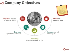 Company Objectives Ppt PowerPoint Presentation Icon Outline