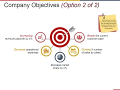 Company Objectives Template 2 Ppt PowerPoint Presentation Infographic Template Show