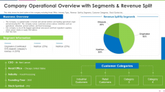 Company Operational Overview With Segments And Revenue Split Template PDF