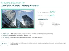 Company Overview For Clean Bid Window Cleaning Proposal Ppt File Format PDF