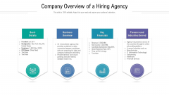 Company Overview Of A Hiring Agency Ppt Slides Smartart PDF
