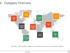 Company Overview Ppt PowerPoint Presentation Example 2015
