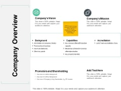 Company Overview Ppt PowerPoint Presentation Gallery Demonstration