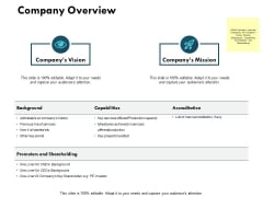 Company Overview Ppt PowerPoint Presentation Outline Templates