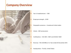 Company Overview Ppt PowerPoint Presentation Slide