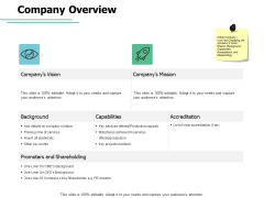 Company Overview Vision Misson Ppt PowerPoint Presentation Portfolio