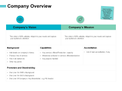 Company Overview Vision Ppt PowerPoint Presentation Portfolio Gridlines
