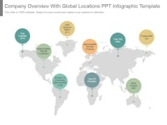 Company Overview With Global Locations Ppt Infographic Template