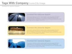 Company Overview With Office Buildings Powerpoint Slides