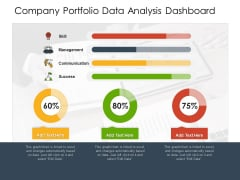 Company Portfolio Data Analysis Dashboard Ppt PowerPoint Presentation File Example Topics PDF