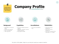 Company Profile Marketing Ppt PowerPoint Presentation Icon Rules