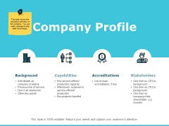 Company Profile Ppt PowerPoint Presentation File Smartart