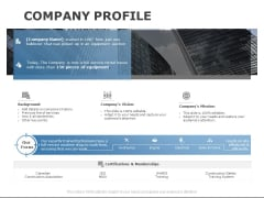 Company Profile Service Ppt PowerPoint Presentation Pictures Design Templates