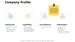 Company Profile Slide Strategy Ppt PowerPoint Presentation Outline Show