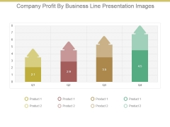 Company Profit By Business Line Presentation Images