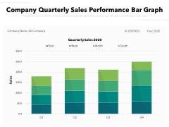 Company Quarterly Sales Performance Bar Graph Ppt PowerPoint Presentation File Templates PDF
