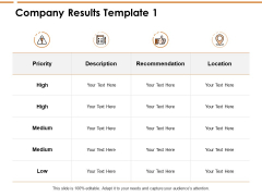 Company Results Location Ppt PowerPoint Presentation Ideas Shapes