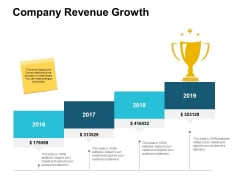 Company Revenue Growth Ppt PowerPoint Presentation Portfolio Styles
