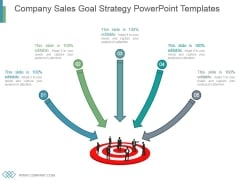 Company Sales Goal Strategy Powerpoint Templates