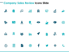 Company Sales Review Icons Slide Gears Ppt PowerPoint Presentation Inspiration Rules