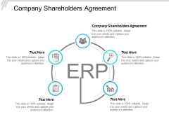Company Shareholders Agreement Ppt PowerPoint Presentation Infographics Graphics Template Cpb