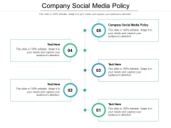 Company Social Media Policy Ppt PowerPoint Presentation File Background Images Cpb Pdf