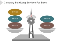 Company Stabilizing Services For Sales Ppt PowerPoint Presentation Clipart